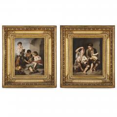 Konigliche Porzellan Manufaktur KPM Two KPM porcelain plaques in giltwood frames after Murillo - 1937748