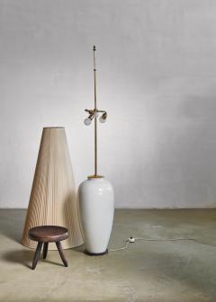 Konigliche Porzellan Manufaktur KPM White porcelain table or floor lamp by KPM Germany 1950s - 797997