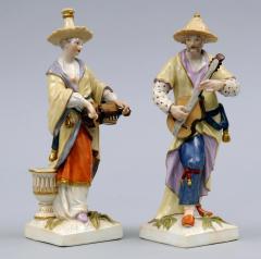 Konigliche Porzellan Manufaktur Pair Berlin KPM Porcelain Figurines Circa 1830 - 266802