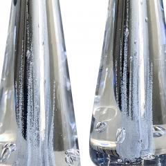 Kosta Boda AB Pair of Lamps in Crystal with Bubble Foliage by Vicke Lindstrand - 1699962