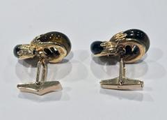 Kutchinsky Kutchinsky 18K tigers eye Cufflinks London 1973 - 1190483