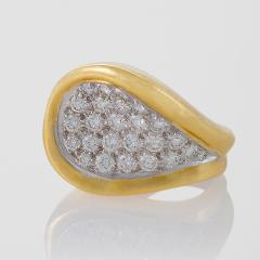 Kutchinsky Kutchinsky Mid 20th Century Diamond Gold and Platinum Ring - 186436