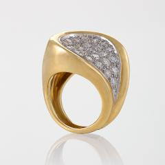 Kutchinsky Kutchinsky Mid 20th Century Diamond Gold and Platinum Ring - 186437