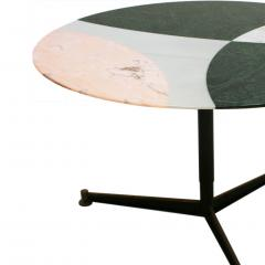 L A Studio L A Studio Contemporary Modern Marble Circular Dining Table - 1492963