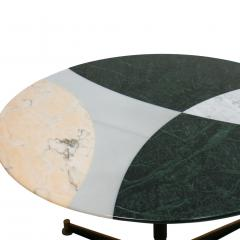 L A Studio L A Studio Contemporary Modern Marble Circular Dining Table - 1492964