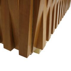 L A Studio L A Studio Faceted Oak Wood And Brass Italian Sideboard - 857996