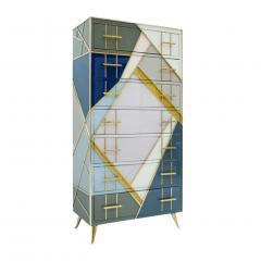 L A Studio L A Studio Mid Century Modern Murano Glass Italian Sideboard - 1064968