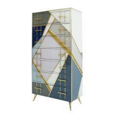 L A Studio L A Studio Mid Century Modern Murano Glass Italian Sideboard - 1064969