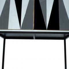 L A Studio L A Studio Modern Solid Wood and Colored Glass Italian Cabinet - 955630