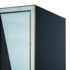 L A Studio L A Studio Modern Solid Wood and Colored Glass Italian Cabinet - 955631