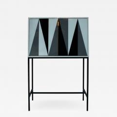 L A Studio L A Studio Modern Solid Wood and Colored Glass Italian Cabinet - 956437