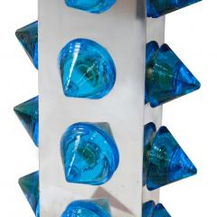 L A Studio L A Studio Pair of Table Lamps with Colored Murano Glass - 1219244