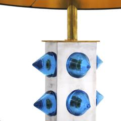 L A Studio L A Studio Pair of Table Lamps with Colored Murano Glass - 1219246