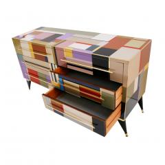 L A Studio Mid Century Modern Style Murano Glass and Brass Italian Sideboard by L A Studio - 1213888