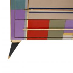 L A Studio Mid Century Modern Style Murano Glass and Brass Italian Sideboard by L A Studio - 1213890