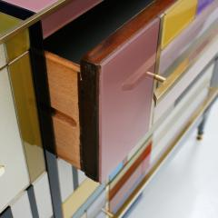 L A Studio Mid Century Modern Style Murano Glass and Brass Italian Sideboard by L A Studio - 1213897