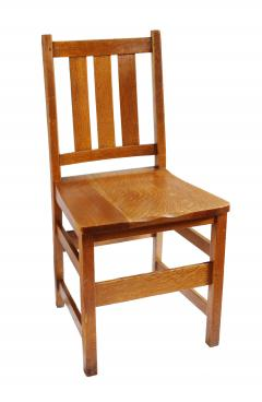 L J G Stickley Inc Andy Warhols Six Stickley Dining Chairs from the Factory and Extending Table - 516789