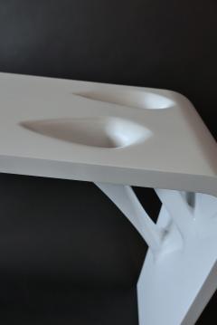 L Opere e i Giorni Rare Pair Italian Modern White Lacquer Prototype Console LOpere e i Giorni - 846571