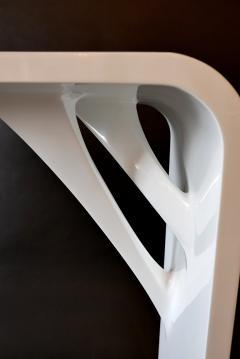 L Opere e i Giorni Rare Pair Italian Modern White Lacquer Prototype Console LOpere e i Giorni - 846572