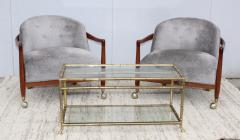 La Barge 1950s Solid Brass Faux Bamboo Italian Coffee Table - 1615929