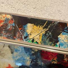 La Barge 1970s Octagonal Wall Mirror Beveled Eglomise Colorful Frame La Barge Modern - 2030575