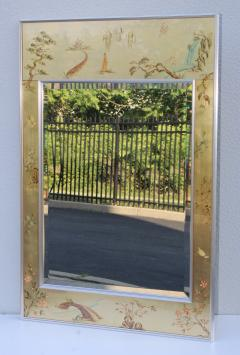La Barge La Barge Mid Century Modern Hand Painted Chinoiserie Mirror - 1067113