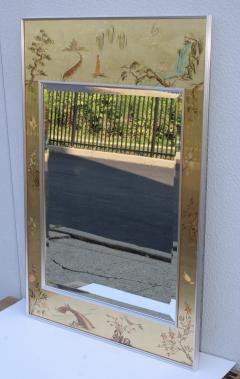 La Barge La Barge Mid Century Modern Hand Painted Chinoiserie Mirror - 1067114