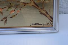 La Barge La Barge Mid Century Modern Hand Painted Chinoiserie Mirror - 1067115