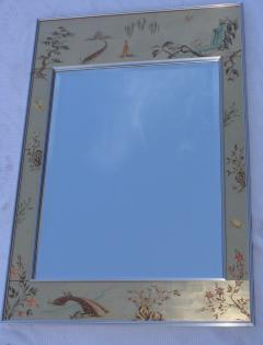 La Barge La Barge Mid Century Modern Hand Painted Chinoiserie Mirror - 1067120