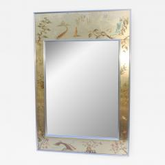 La Barge La Barge Mid Century Modern Hand Painted Chinoiserie Mirror - 1067394
