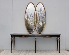 La Barge Mid Century Modern Interlocking Oval Gold Leaf Mirror - 1368108
