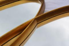 La Barge Mid Century Modern Interlocking Oval Gold Leaf Mirror - 1368116