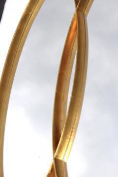 La Barge Mid Century Modern Interlocking Oval Gold Leaf Mirror - 1368118