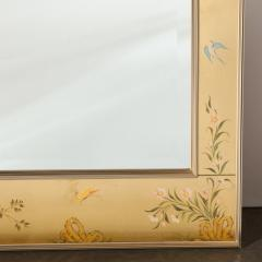La Barge Mid Century Modern Large Scale La Barge Hand Painted glomis Chinoiserie Mirror - 1733369