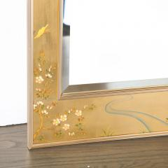 La Barge Mid Century Modern Large Scale La Barge Hand Painted glomis Chinoiserie Mirror - 1733370