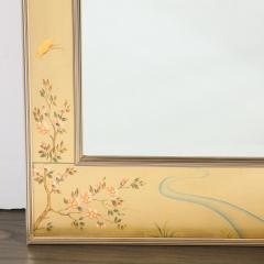 La Barge Mid Century Modern Large Scale La Barge Hand Painted glomis Chinoiserie Mirror - 1733371