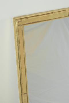 La Barge Pair of Faux Bamboo Gilt and Mirrored Frame Mirrors - 2124428
