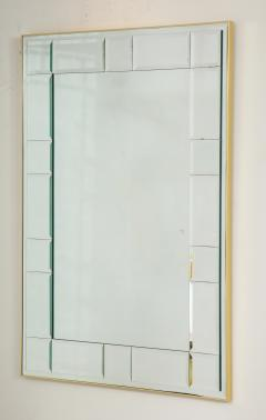 La Barge Polished Brass and Scored Mirror - 899728