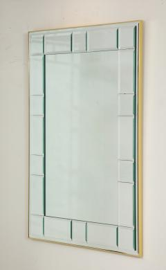 La Barge Polished Brass and Scored Mirror - 899729