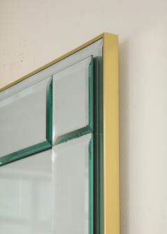 La Barge Polished Brass and Scored Mirror - 899744