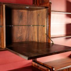 La Permanente Mobili Cant Bookcase La Permanente Mobili Cant Rosewood Brass Leatherette 1950s - 1980540