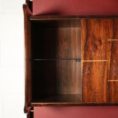 La Permanente Mobili Cant Bookcase La Permanente Mobili Cant Rosewood Brass Leatherette 1950s - 1980542