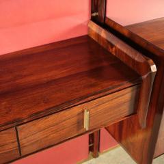 La Permanente Mobili Cant Bookcase La Permanente Mobili Cant Rosewood Brass Leatherette 1950s - 1980546