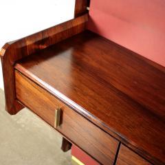 La Permanente Mobili Cant Bookcase La Permanente Mobili Cant Rosewood Brass Leatherette 1950s - 1980547