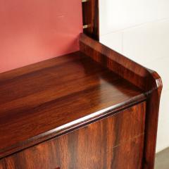 La Permanente Mobili Cant Bookcase La Permanente Mobili Cant Rosewood Brass Leatherette 1950s - 1980549