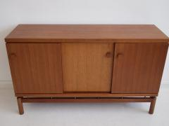 La Permanente Mobili Cant Mid 20th Century Italian Teak Sideboard with Brass Details - 1597884