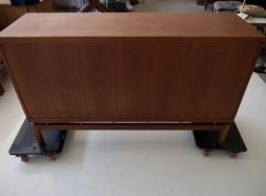 La Permanente Mobili Cant Mid 20th Century Italian Teak Sideboard with Brass Details - 1597898