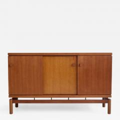 La Permanente Mobili Cant Mid 20th Century Italian Teak Sideboard with Brass Details - 1600106