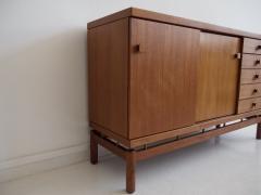 La Permanente Mobili Cant Teak and Brass Sideboard by La Permanente Mobili Cant  - 1597913