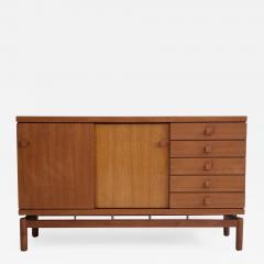 La Permanente Mobili Cant Teak and Brass Sideboard by La Permanente Mobili Cant  - 1600107